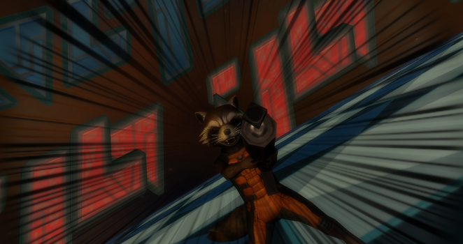 MMd Newcomer Rocket Raccoon + DL by Valforwing