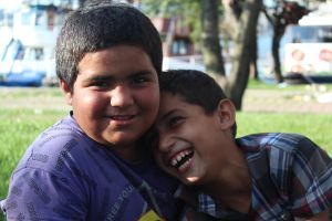 Syrian boys also can smile by trawellness