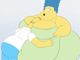 Marge And Homer by TubbyToon