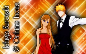 Ichigo and Orihime by CaptainLaser