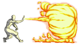 Firebending Open Palm by moptop4000