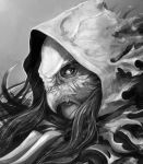 Tempus Ren - Riella Red Hooded Huntress Close Up by Eyardt