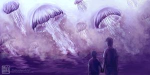 Plight of the Jellyfishes by micehell