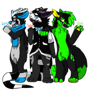 We Three Sonas by toxicfox100