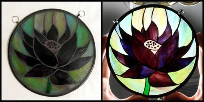 Stained-Glass Black Lotus by VitriGeek