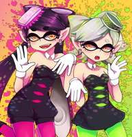 Squid Sisters by NisoTheStrawberry