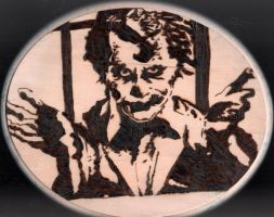 Pyrography:  The Joker by naaxha