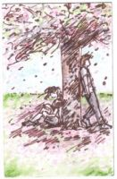 Ron and Hermione- Cherry Tree by Jar-of-Jam