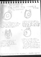 How To Draw A My Little Pony - Head and Face by thed3vilssmile