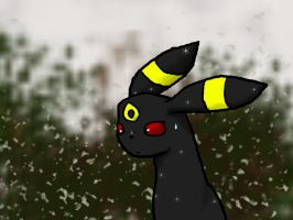 Umbreon's First Snowfall by Yugisrose