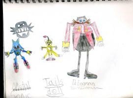 Eggman, Metal Sonic, And Tails Doll by emerswell