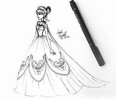 Dress For Anna by angelaaasketches