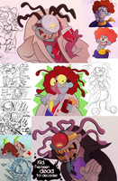 Yo-Kai Watch Sketchdump Part 2 - Call a Doctor by Turquoisephoenix