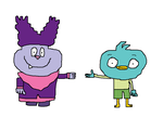Chowder and Harvey Beaks by Toongirl18