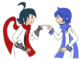 Kaito: Look-alikes with scarfs by Luckster