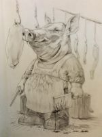 Butcher Swine by harperugby