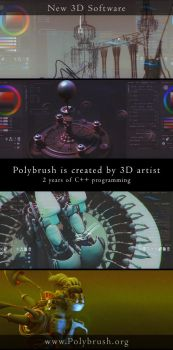 Polybrush - 3D software for concept art by arsdraw