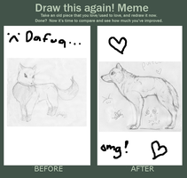 Iprovement meme~ wolf anatomy by Dominoluv