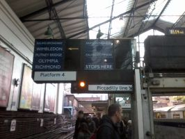 Earl's Court Tube Station by CooroSnowFox