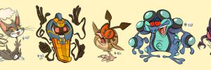 Ten Pokemon Challenge by Themrock