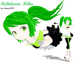 MMD Newcomer Meltdown Miku by Tdrawer3130