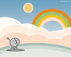 Little robot - Rainbow by pincel3d