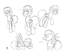 Mally pony sketches by lunar-pop