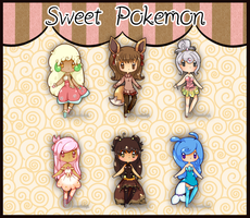 Sweet Pokemon Adopts by Ambercatlucky2