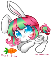 Filly Blossomforth Bunny by BunniniArt