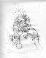 Ghost Rider Sketch by LuisLarm