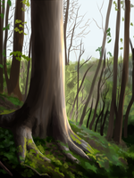 Tree Speed Study 03 by Ametystical