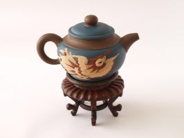 Chinese Teapot: Phoenix by spellbound7