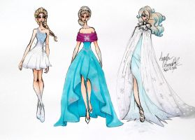 Frozen Inspired Fashion by angelaaasketches