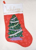 Christmas stocking for Whitney by Vivienne-Mercier