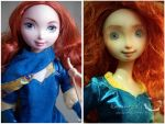 Mattel Merida my repaint orginal comparison by kamarza