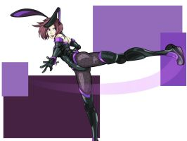 Technobunny Alice - Roundhouse Kick by feralknights