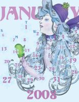 Art Nouveau Calendar by irishbxtch
