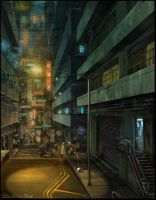 HK Alleyway by rodimus25
