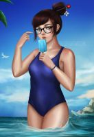 Beach party: Mei by Nindei