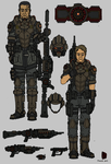 Tenebrean Basic Infantry and gear concept by Athalai-Haust