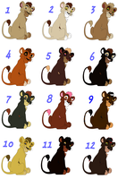 Male Cubs Adoptables 3 - CLOSED - by Soufroma