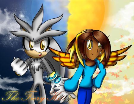 .:Request:. Dona And Silver by Blaze-Fiery-Kitty