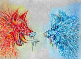 Fire and Ice by KuvanaLesina
