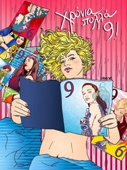 9 years of '9' magazine by t-drom