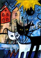 white cat black cat. by Sol-Angelica