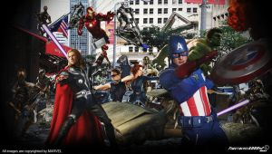 The Avengers vs Loki's Army The Chitauri Wallpaper by Timetravel6000v2