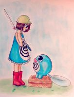 Poliwag Girl by AddyinWonderland