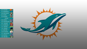 Miami Dolphins 2013 Schedule Wallpaper by SevenwithaT