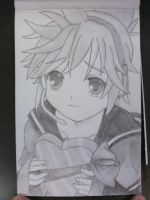 Kagamine Len Pencil Drawing by Passionis-Angelus