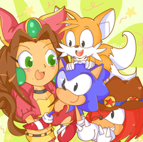 Awww my wittle heroessss! by chibiirose